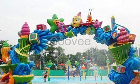 深圳雕塑游乐场拱门玻璃钢雕塑旅游区不锈钢拱门雕塑