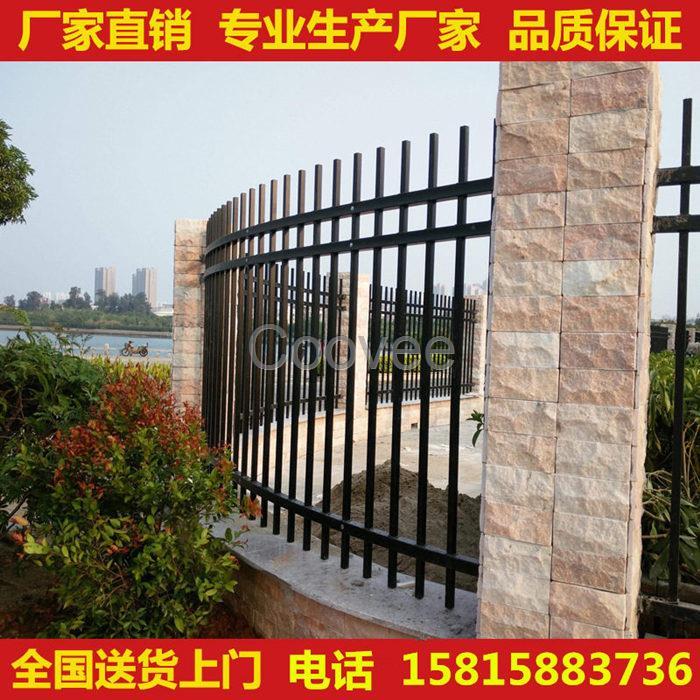 小区围墙栏杆规格广州锌钢栅栏工厂学校围墙防护栏规格