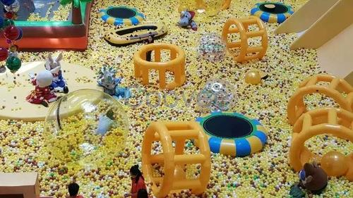 大型积木城堡海洋球乐园出租儿童欢乐百万海洋球池租赁