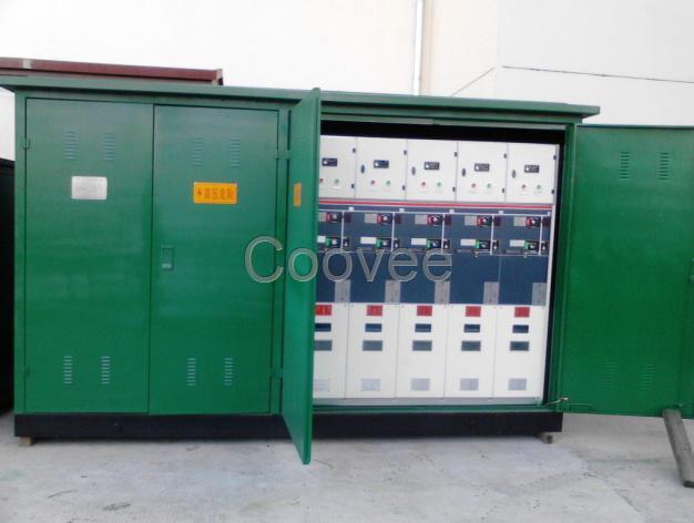 配电房内设备主要有低压配电柜,配电柜分成进线柜,计量柜,联络柜,出线