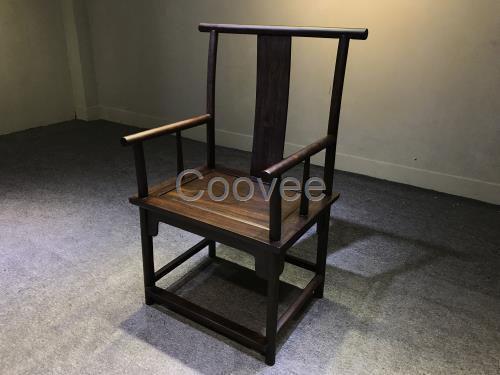 新中式黑檀实木家具靠背椅整板坐板无拼接榫卯工艺