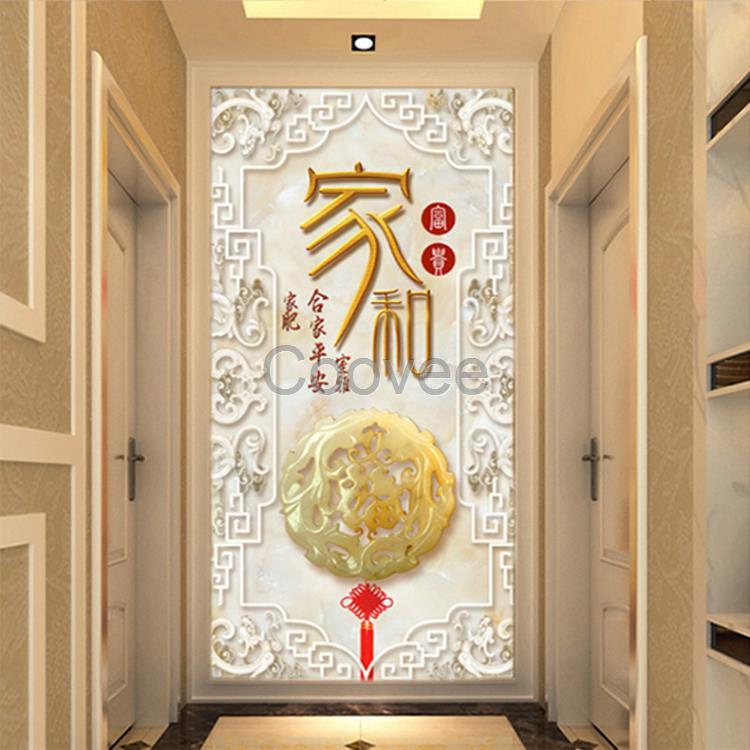 信阳中式欧式玄关壁画信阳电视背景墙壁画3d5d电视墙