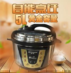 全自动煲汤锅5L 智能预约家用电压力锅