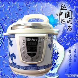 正品青花瓷5L智能电压力锅微电脑高压锅