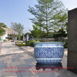 景德镇二2米陶瓷大缸 酒店装饰落地大缸