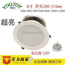 欧式现代筒灯60W COB LED筒灯