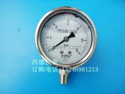 60MM立式0~6BAR全不锈钢压力表