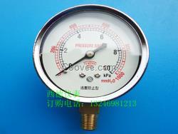 60MM径向10KPA过压防止型压力表