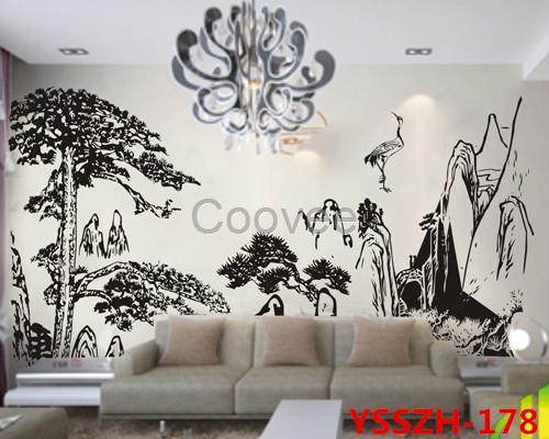 墙壁欧式印花效果图大全