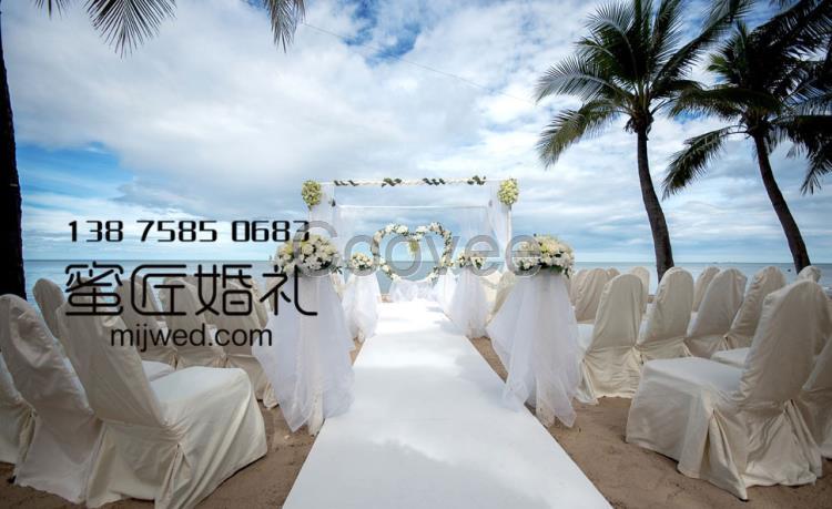 武汉婚礼策划海边婚礼布置
