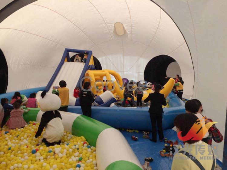 汉光展览昌吉大型儿童玩具熊猫岛优惠租赁卡通道具出租