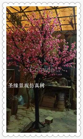 北京仿真桃花树假桃花树枝人造桃花树装饰
