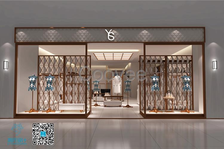 雨珊服裝店面si設計       現在很多年輕人都喜歡把自己的店鋪裝修得