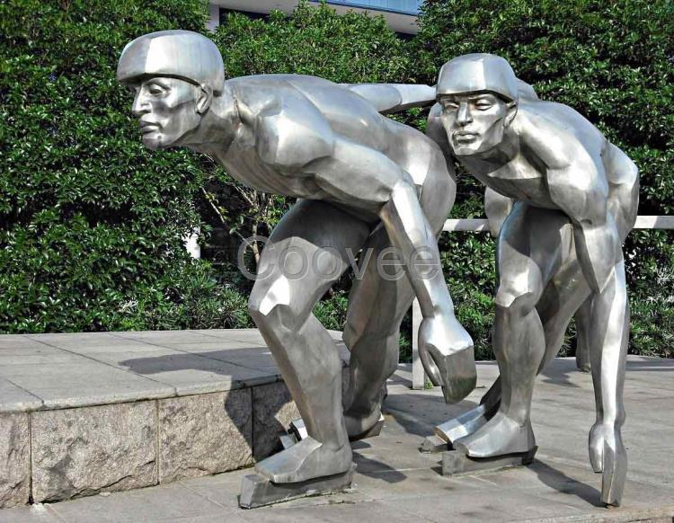 人物体育运动雕塑