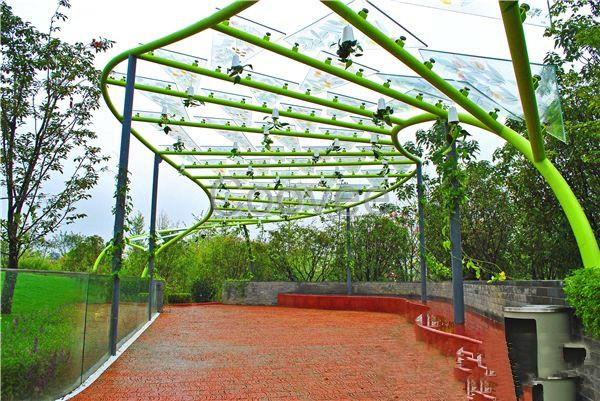 景观廊架-标志牌等设计制作-商务公园雕塑艺术廊架