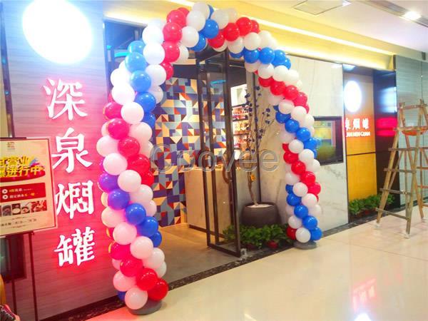 郑州开业气球拱门浪漫圣诞节