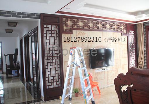 广州中式电视隔断背景来图定做挑这中式雕花电视背景墙厂家就对了