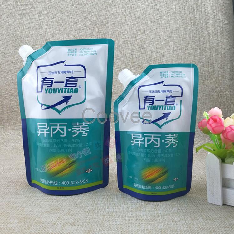 自立袋厂家订做5kg耐腐蚀抗爆液体包装袋化工肥料吸嘴