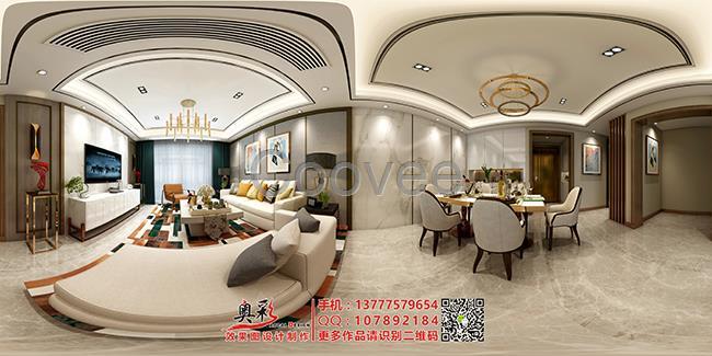 装潢设计 家装室内全景3d设计360度720度全景3d设计制作   效果图设计