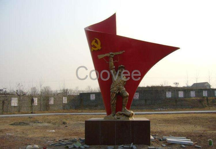 上海玻璃钢国旗雕塑-中国国旗景观定制   中华人民共和国国旗的设计者