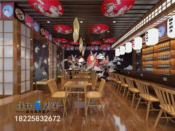 餐厅装修设计主题餐厅装修 日本料理装修日料店装修 特色餐厅装修 日本料理店内部的装修设计与布置,是体现日本料理店风格的一个重要方面。日本料理店内部的装修设计与布局应根据店面的大小决定。具体来讲,在进行日本料理店布置时,要把握好以下几个方面: 1.日本料理店空间分配通常情况下,日本料理店的空间设计与布局包括以下几个方面:活动空间:包括通道、走廊、座位等;管理空间:包括服务台、办公室、休息室等公共空间:包括洗手间、休息室等后勤空间:配餐间、厨房、冷藏保管室等。 2.