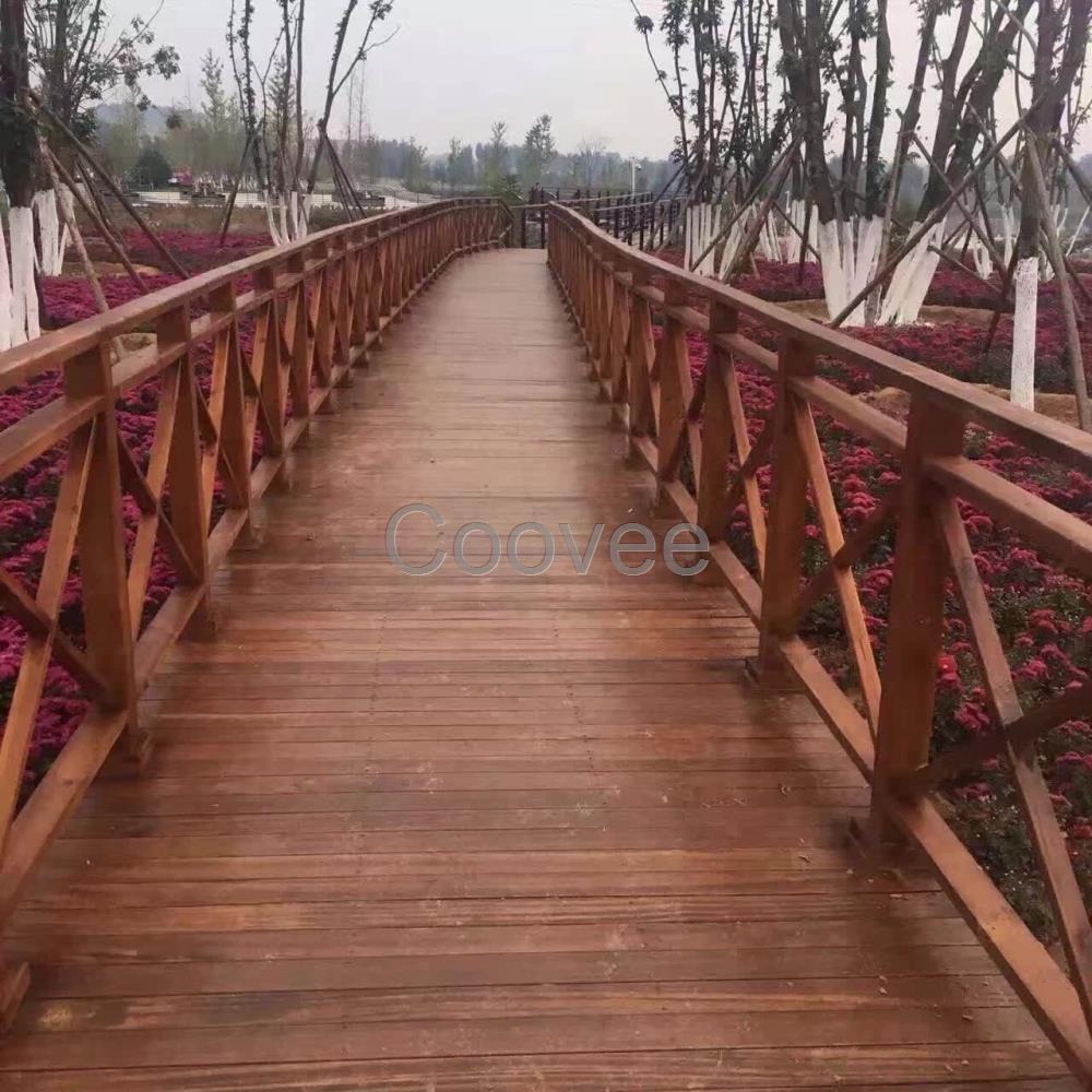 长沙防腐木栏杆芬兰木栏杆长沙庭院护栏设计栏杆制作