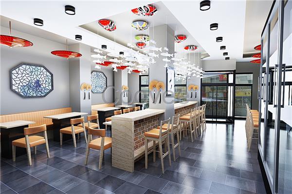 创意设计 装潢设计 合肥面馆装修特色小吃店装修门店装修公司