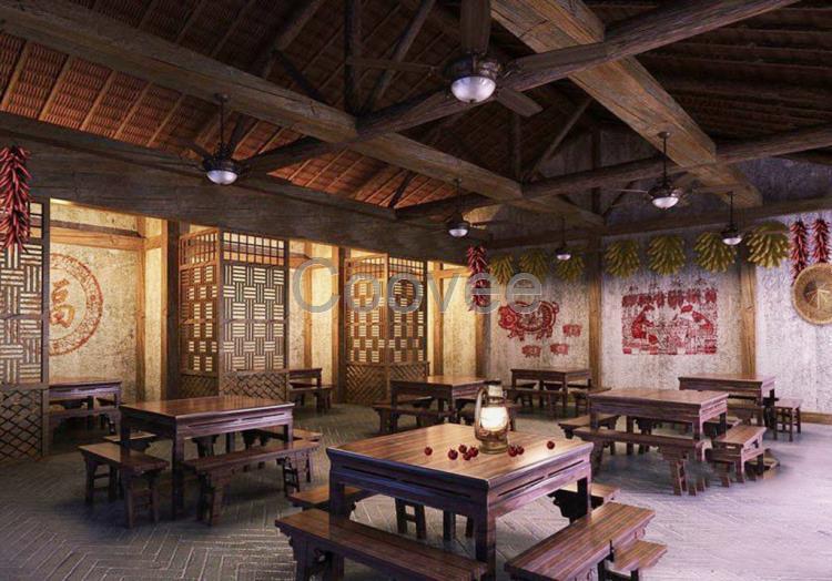 铜川中式茶楼家具定制仿古家具实木家具仿古家具定制     陕西禅意新