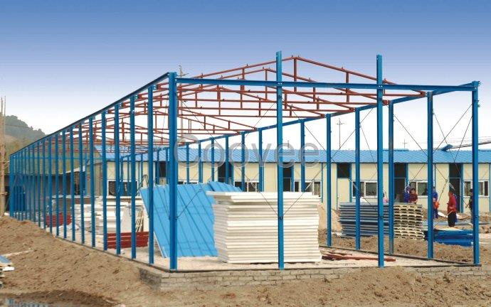 提供苍南轻钢结构房便宜简易房定做福鼎轻钢雨棚制造