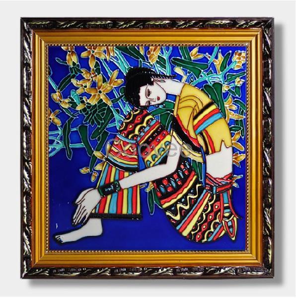 景德镇瓷板画花卉春夏秋冬家居装饰画客厅沙发背景中式挂画墙壁画