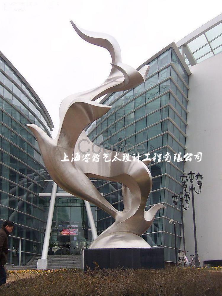 长江地铁口雕塑发财树各种景观雕塑来图定制