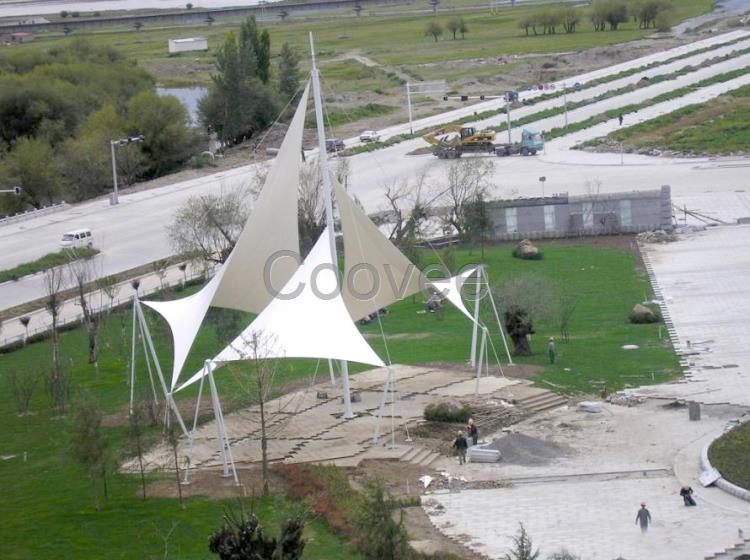 新新疆停车棚款式新疆张拉膜景观材料新疆膜结构厂家现货批发