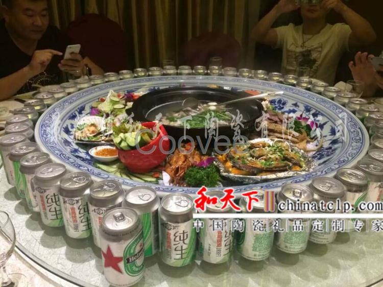景德镇厂家直销陶瓷大盘超大海鲜大盘拼盘平盘