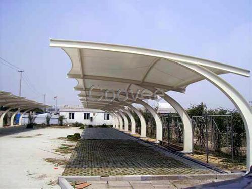 肇庆市停车棚膜结构施工膜结构停车雨棚订制
